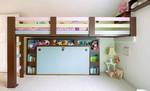 How to make your own loft bed in easy 5 steps interior for Bunk beds built into wall