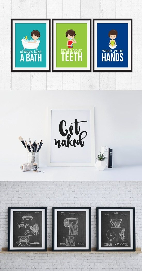 How to Use Framed Art Prints in Decorating your Bathroom