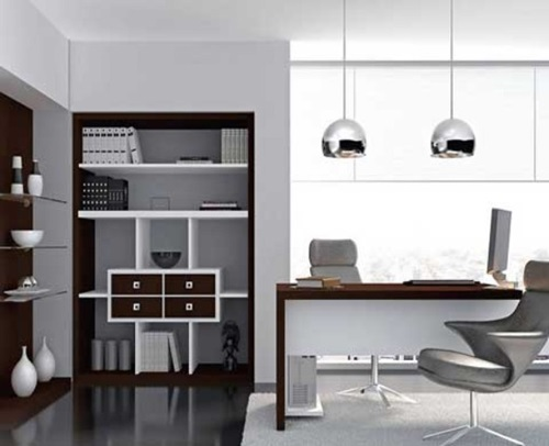 5 unique small modern home office design ideas interior for Modern office decor ideas