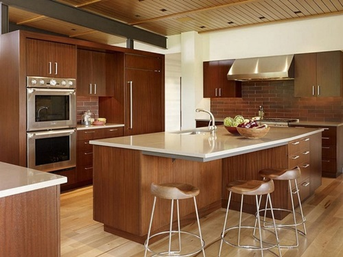 Amazing Kitchen Countertop Mixed Material Design Ideas