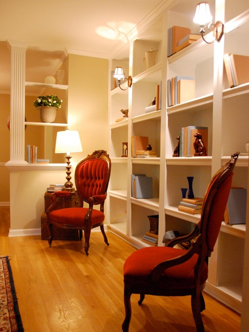 Functional and decorative shelf system designs for your for Functional living room ideas