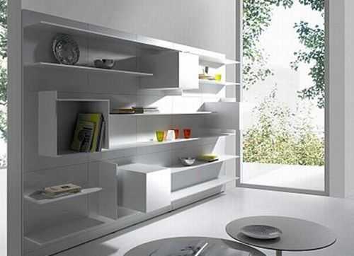 Functional And Decorative Shelf System Designs For Your Home Office Interior Design