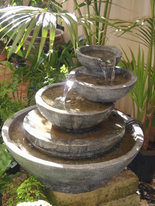 Impressive handmade outdoor fountain design ideas for Water fountain designs garden