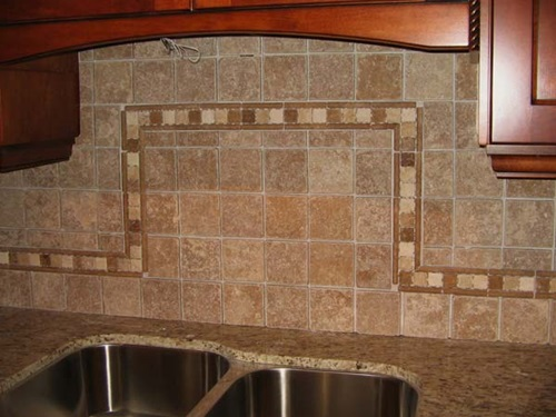 interesting functional and decorative kitchen backsplash