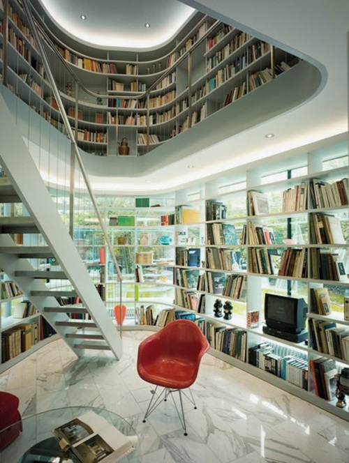 Interesting home library designs for modern homes for Interesting home designs