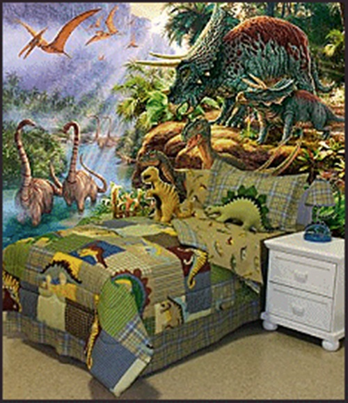 Magical kids room with a dinosaur theme interior design - Boys room dinosaur decor ideas ...