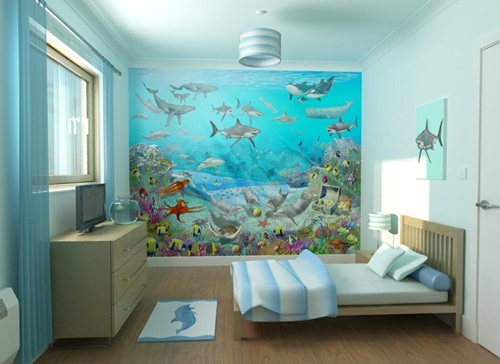 Sea themed furniture for your kids 39 bedroom interior design for Ocean themed interior design