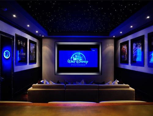 Tranquil Modern Home Theater Design Ideas - Interior design