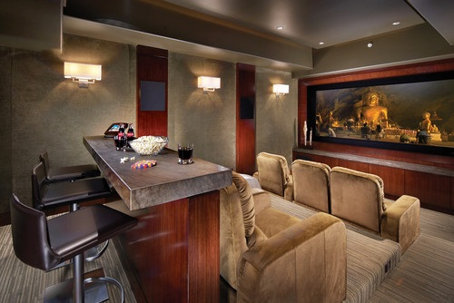 tranquil modern home theater design ideas - Home Theater Design Ideas