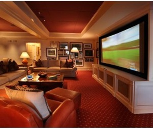 ... Tranquil Modern Home Theater Design Ideas ...