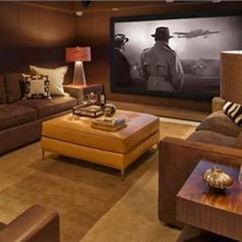 Interior Design Ideas For Home Theater: Tranquil Modern Home Theater Design Ideas