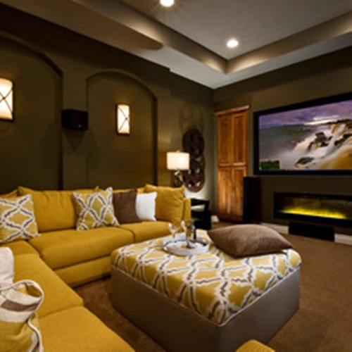 Home Theater Design Ideas Home Theater Masters: Tranquil Modern Home Theater Design Ideas
