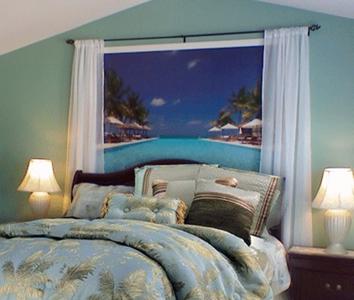 Tropical theme bedroom decorating ideas interior design for Bedroom beach theme ideas