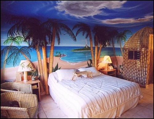 Tropical theme bedroom decorating ideas interior design for Interior design theme ideas