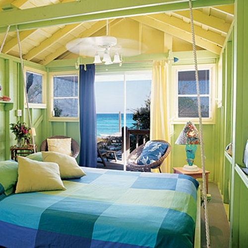 Tropical theme bedroom decorating ideas interior design for Tropical house color schemes