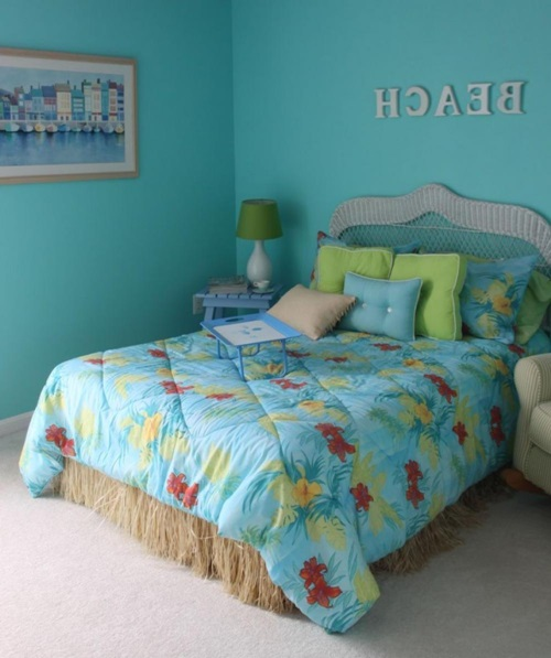 Tropical Theme Bedroom Decorating Ideas
