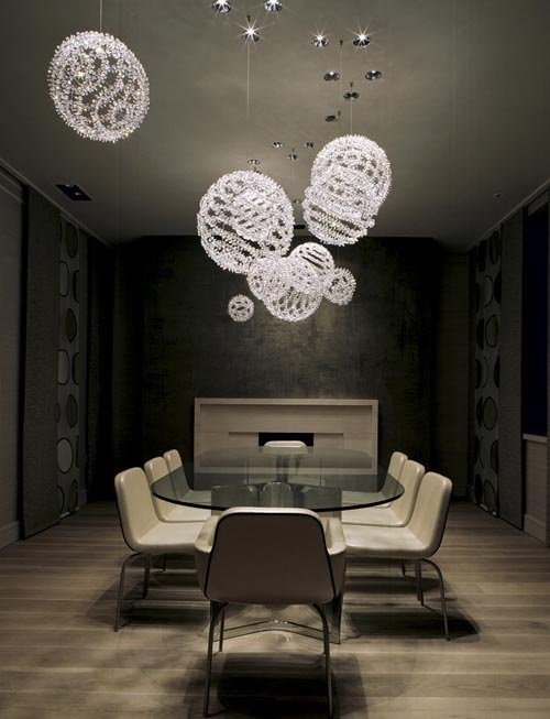 Unconventional dining room designs for your modern home interior design - Contemporary dining room chandeliers styles ...