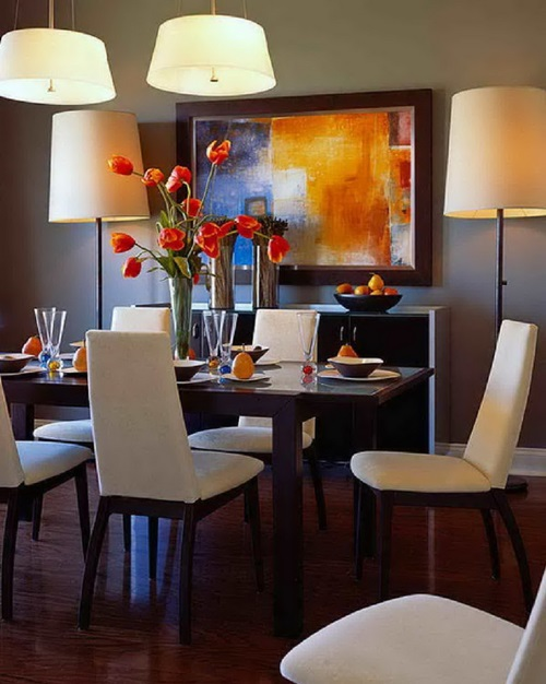 Unique modern dining room design ideas interior design for Modern dining room table decorating ideas