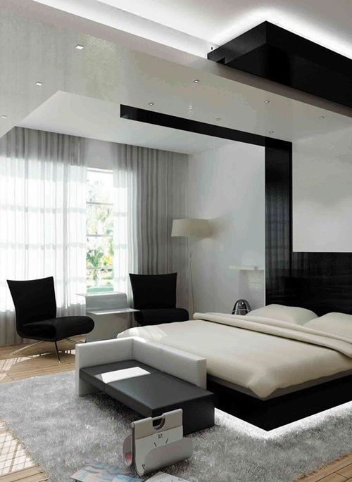 Unique and inviting modern bedroom design ideas interior for Different bedroom decorating ideas