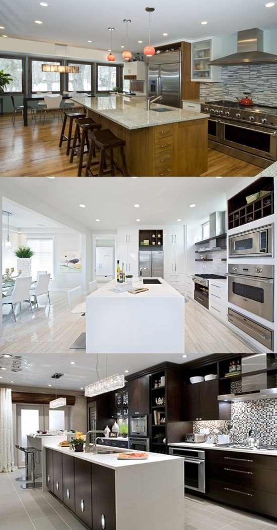 modern black and white kitchen interior fabulous design | 5 Great Tips for Decorating Black and White Modern ...