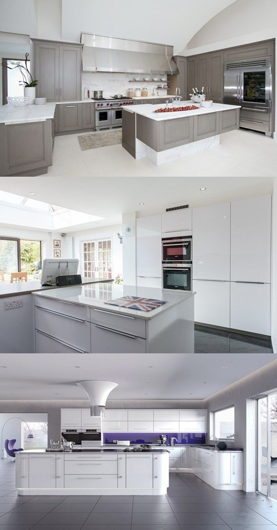 5 trendy ideas for decorating modern white kitchens - Cheerful bright kitchen color ideas for sleek interior layout ...