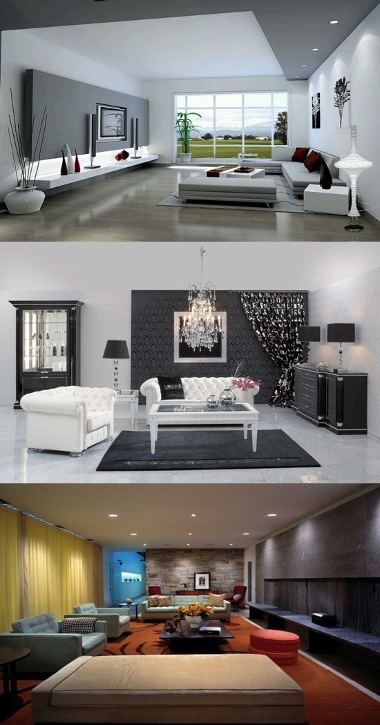 Interior Design Ideas For Living Rooms: Breathtaking Modern Living Room Designs