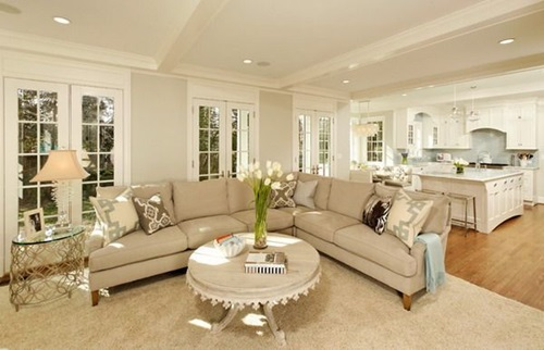 Chic and Luxurious Large French Style Living Room Ideas Interior