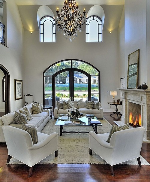 Chic and luxurious large french style living room ideas for Large living room design ideas