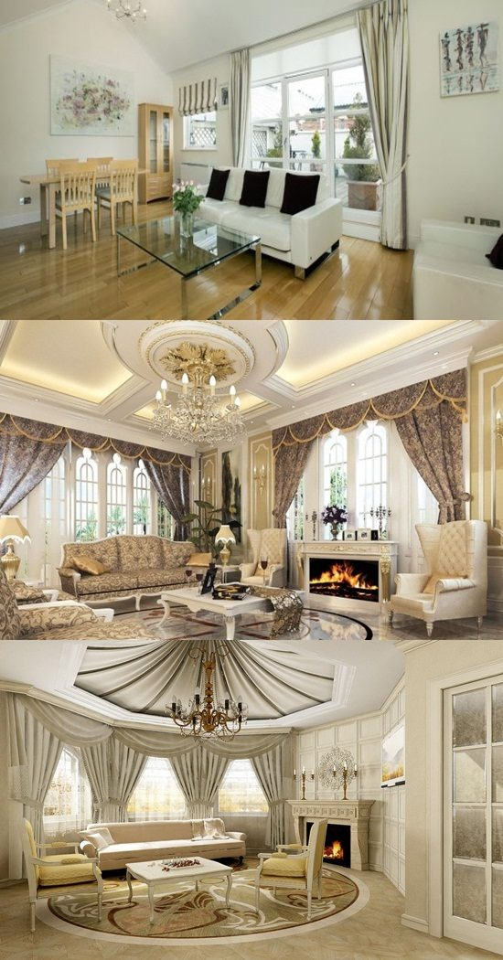Formal Living Room Color Ideas: Chic And Luxurious Large French Style Living Room Ideas