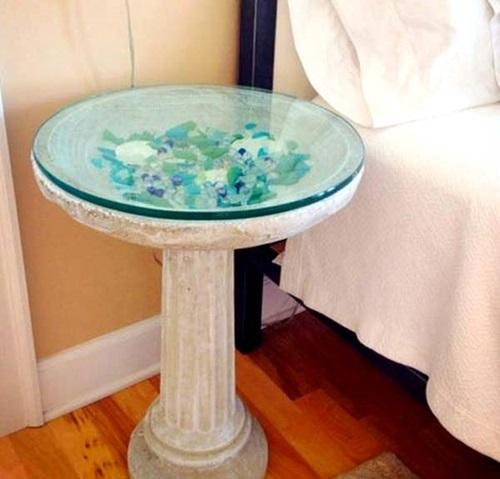 Cool and Distinctive DIY Decorative Ideas Using Colorful Sea Glass