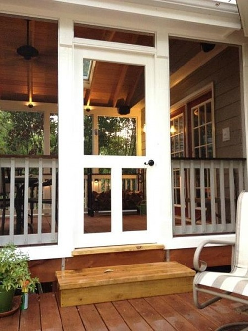 Creative ideas to remodel your screened porch interior for Interior porch doors