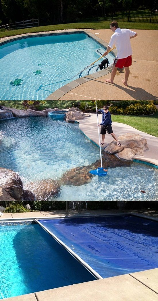 How to clean and maintain your outdoor swimming pool for Swimming pool 4 eckig
