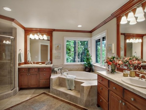 How to create a relaxing spa like bathroom interior design - How to layout a bathroom remodel ...