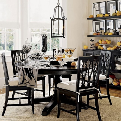 Black And White Dining Room Chairs: Impressive Ideas To Your Modern Black And White Dining