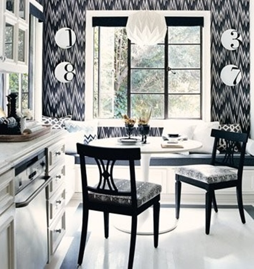 Dining Room Black And White