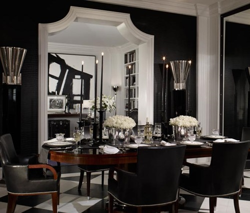Impressive Ideas to Your Modern Black and White Dining