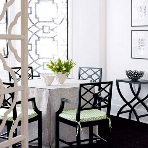 Dining Room Black And White: Impressive Ideas To Your Modern Black And White Dining