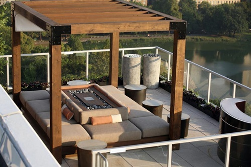 Inspiring rooftop deck design ideas interior design for Roof deck design