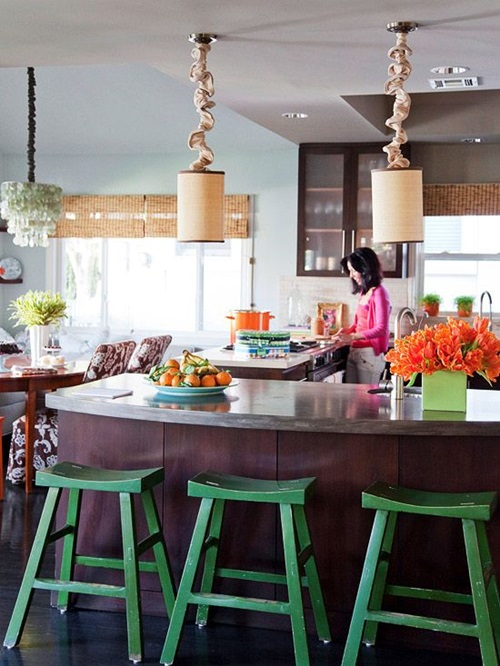 Refreshing spring decorations for a windowless room for Windowless kitchen ideas