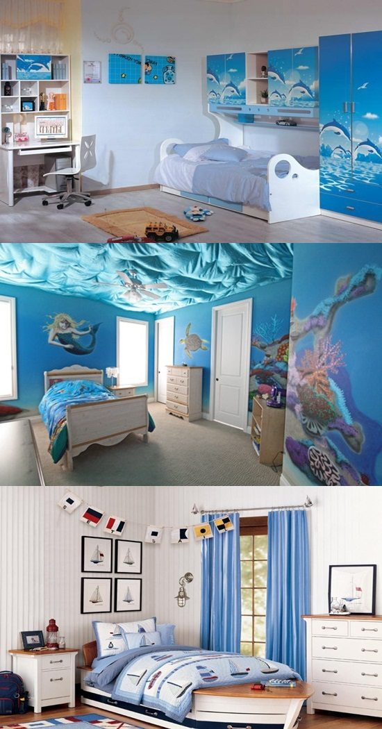 Surprising Sea Themed Furniture For Your Kids Bedroom Interior Design Largest Home Design Picture Inspirations Pitcheantrous