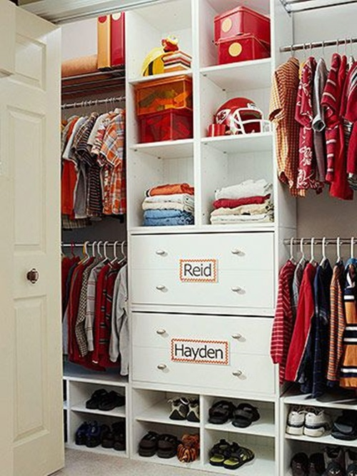Functional and fun storage ideas make it easy for kids to ke.