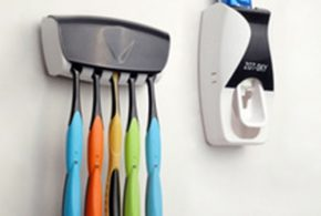 Super Stylish Bathrooms with Automatic Toothpaste Dispensers