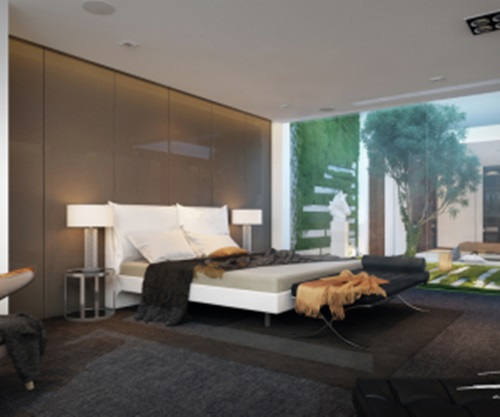 The main features of industrial style in your home for Inside outside bedroom designs
