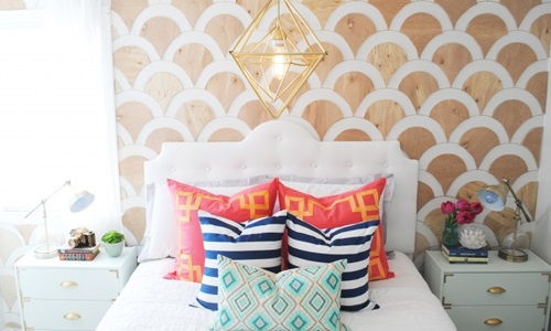 An Incredibly Simple and Impressive Wooden Scalloped Wall Accent DIY Project