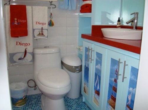 Enjoying and Relaxing Modern Young Kids Bathroom Decorating Ideas