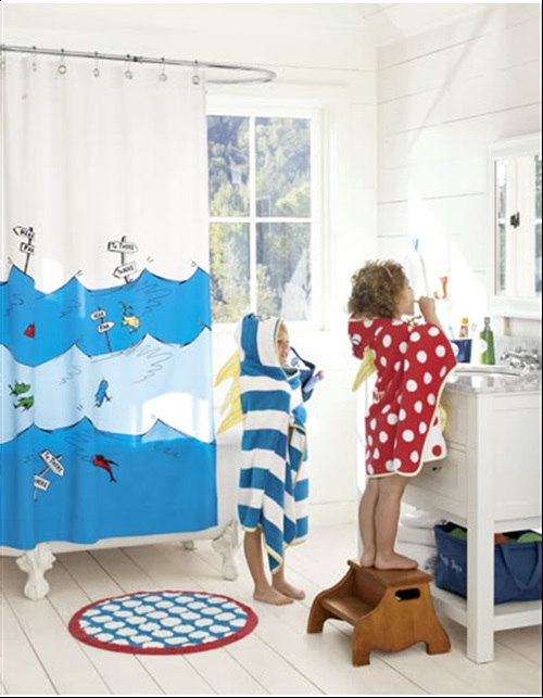 Enjoying and Relaxing Modern Young Kid\'s Bathroom Decorating Ideas ...