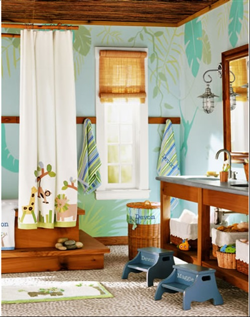 Enjoying and relaxing modern young kid 39 s bathroom for Kids bathroom ideas for boys
