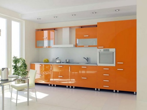 How to incorporate orange color in your modern home decor for Fevicol kitchen designs
