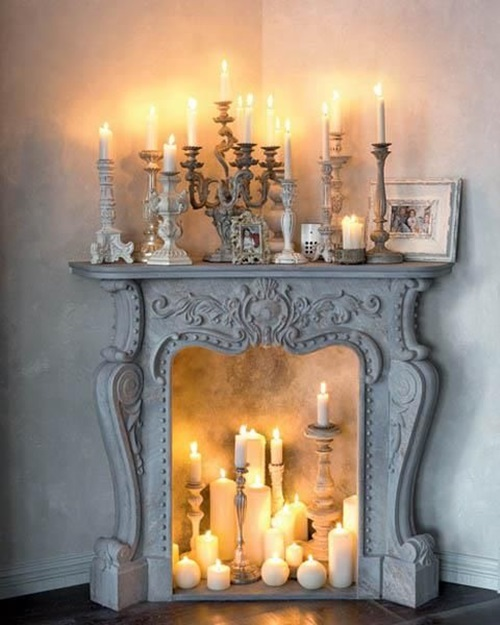 Home Decor Ideas With Candles: Interesting Ideas To Add A Fake Fireplace To Your Home