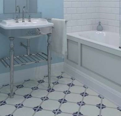 Pros and cons of various bathroom floor tile types for Linoleum flooring options